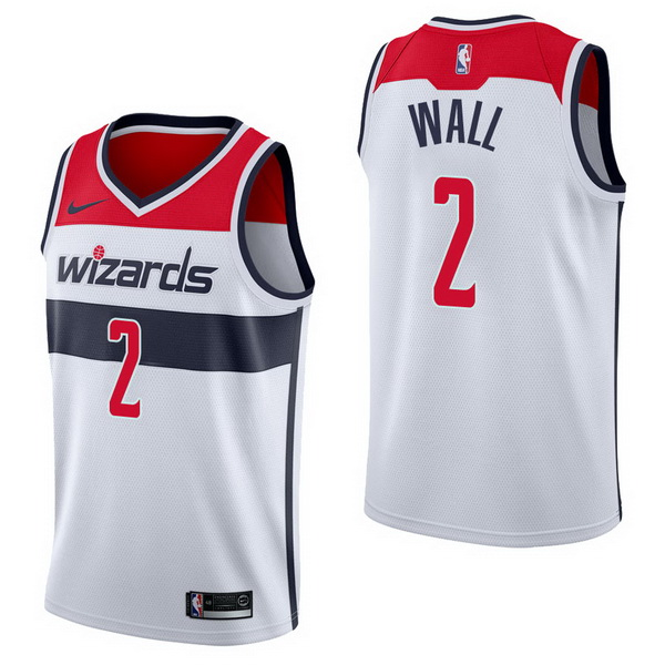 Vendita Maglia NBA Nike Washington Wizards NO.2 John Wall Bianco Association