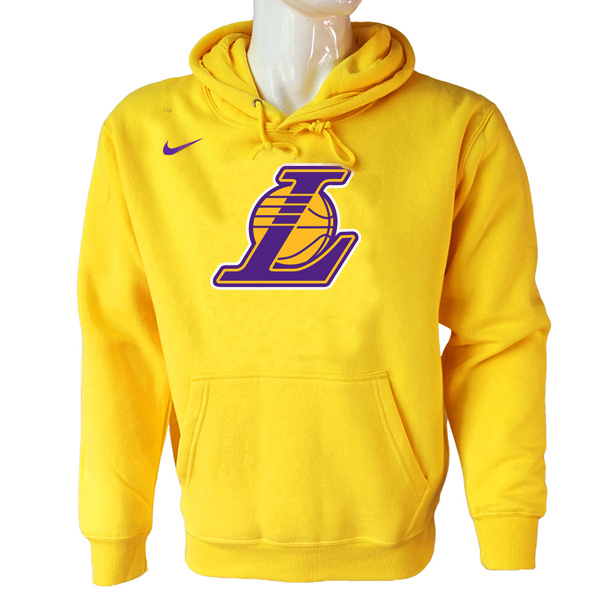 Vendita Felpe Con Cappuccio NBA Los Angeles Lakers Nike Giallo