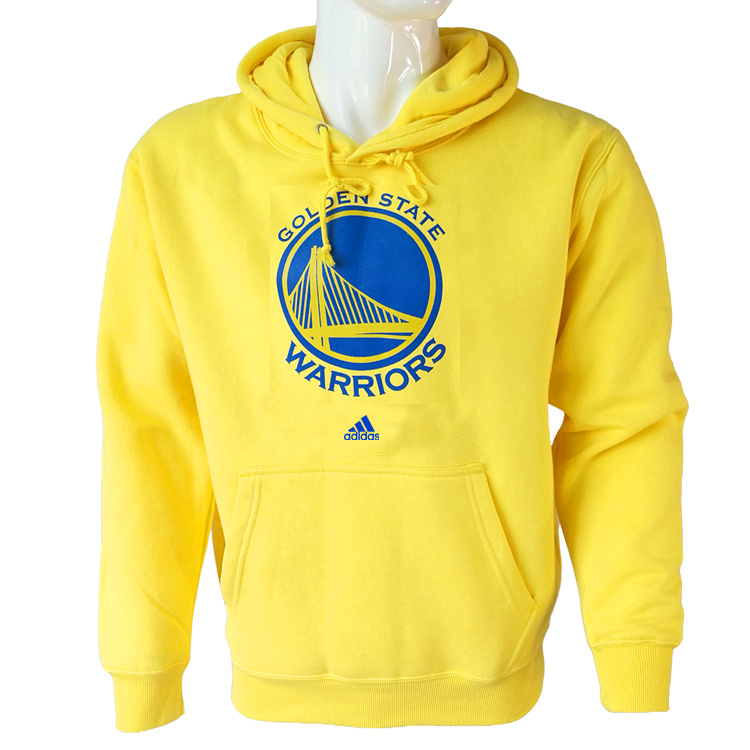 Vendita Felpe Con Cappuccio NBA Golden State Warriors Giallo City
