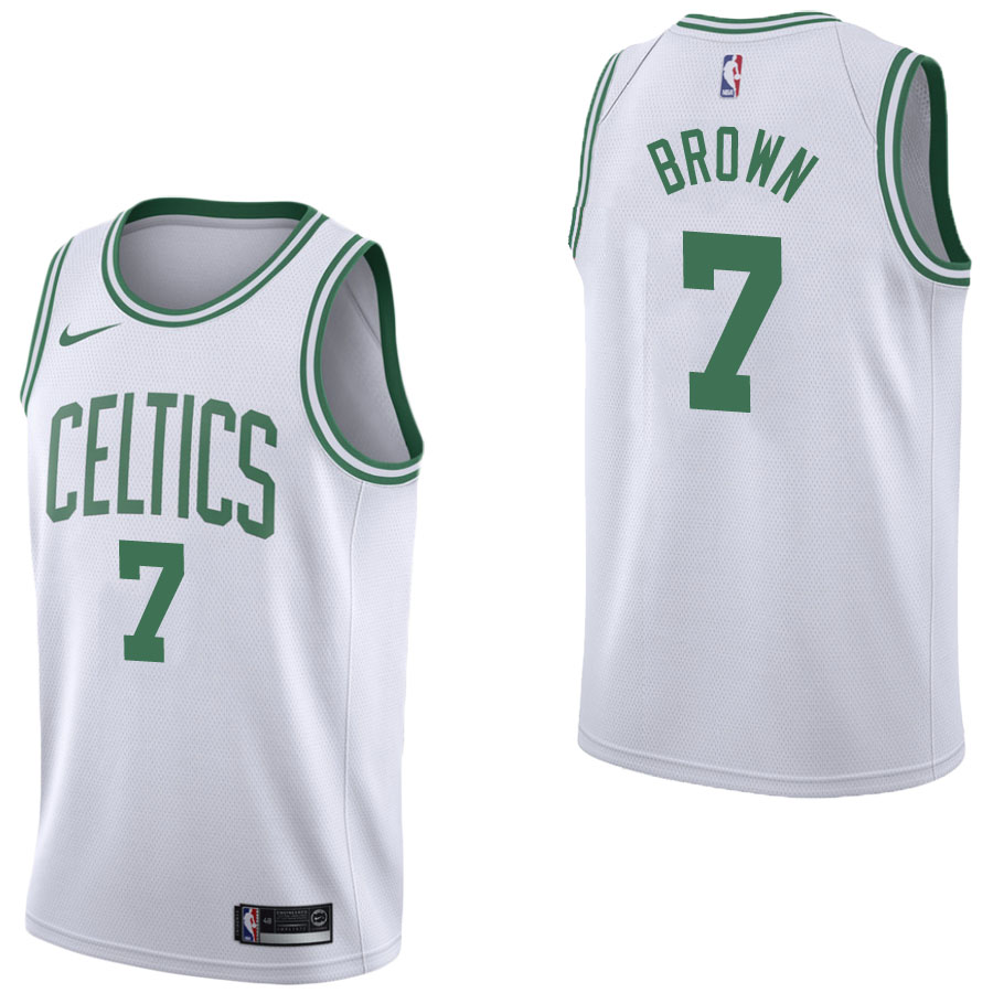 Vendita Maglia NBA Nike Boston Celtics NO.7 Jaylen Brown Bianco Association