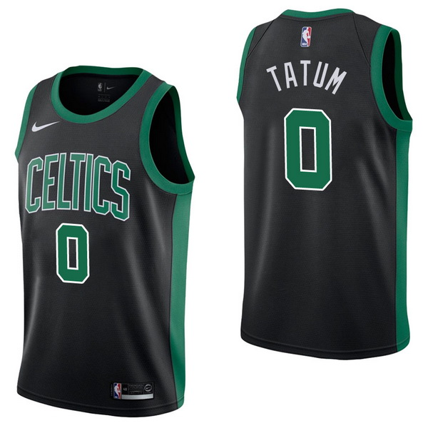 Vendita Maglia NBA Nike Boston Celtics NO.0 Jayson Tatum Nero Statement