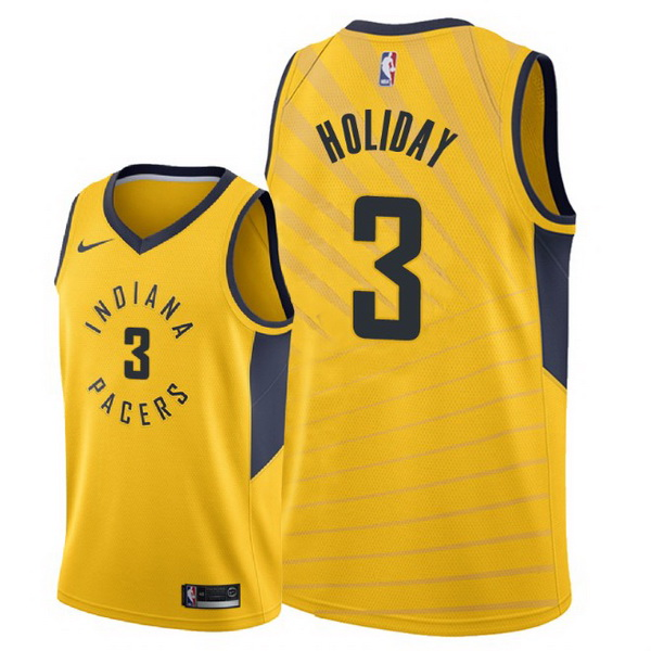 Vendita Maglia NBA Nike Indiana Pacers NO.3 Aaron Holiday Giallo Statement 2018