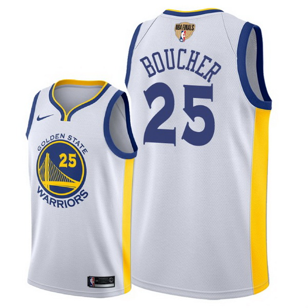 Vendita Maglia NBA Golden State Warriors 2018 Campionato Finali NO.25 Chris Boucher Bianco