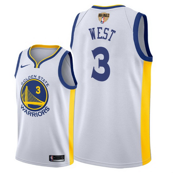 Vendita Maglia NBA Golden State Warriors 2018 Campionato Finali NO.3 David West Bianco