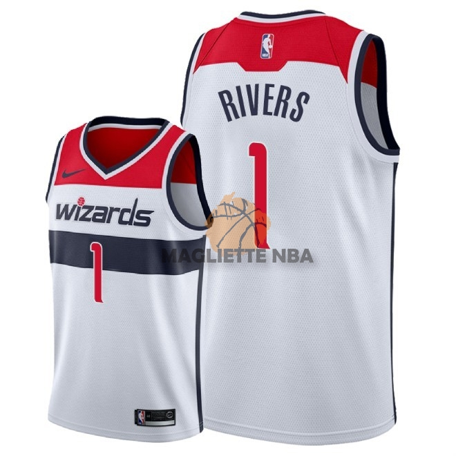 Vendita Maglia NBA Nike Washington Wizards NO.1 Austin Rivers Bianco Association 2018