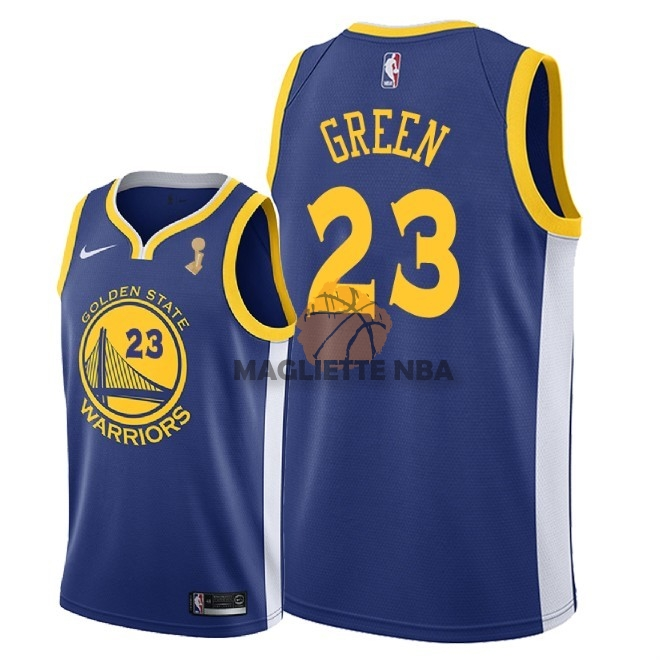 Vendita Maglia NBA Golden State Warriors 2018 Campionato Finali NO.23 Draymond Green Blu