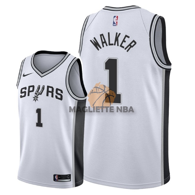 Vendita Maglia NBA Nike San Antonio Spurs NO.1 Lonnie Walker Bianco Association 2018