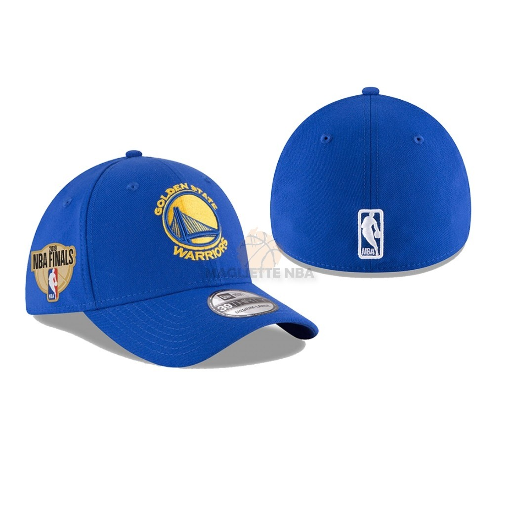 Vendita Cappelli 2019 NBA Finals Golden State Warriors Blu 01