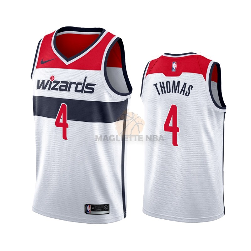 Vendita Maglia NBA Nike Washington Wizards NO.4 Isaiah Thomas Bianco Association 2019-20
