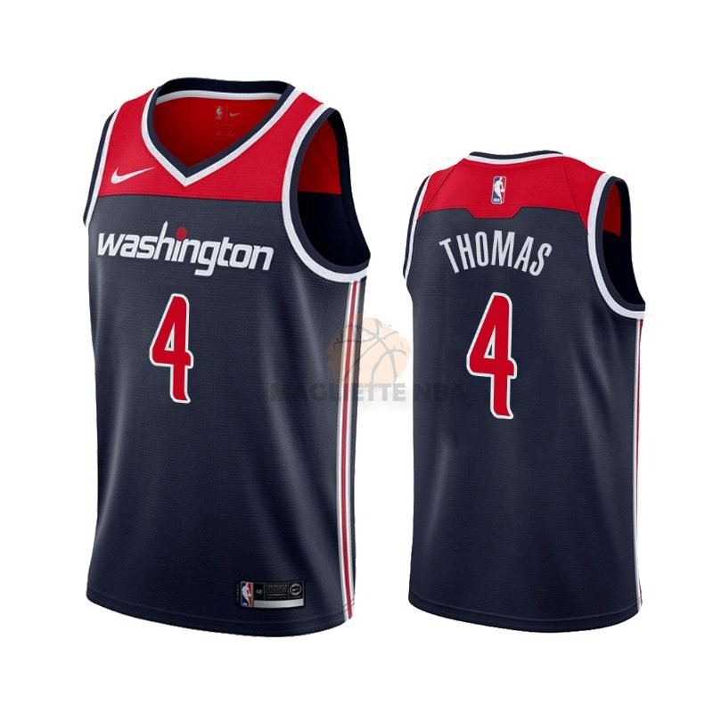 Vendita Maglia NBA Nike Washington Wizards NO.4 Isaiah Thomas Marino Statement 2019-20