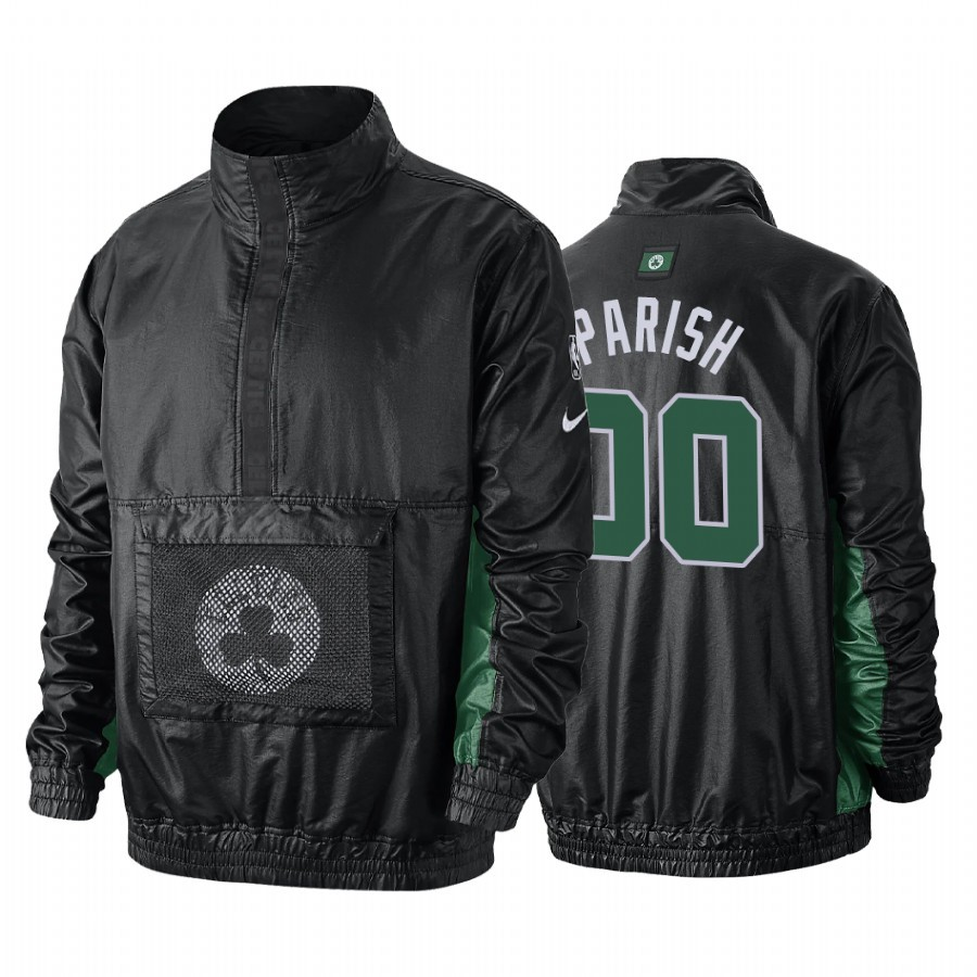 Vendita Giacca NBA Boston Celtics NO.00 Robert Parish Nero