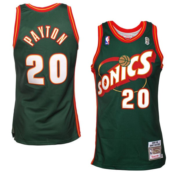 Vendita Maglia NBA Seattle Supersonics NO.20 Gary Payton Retro Verde
