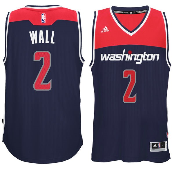 Vendita Maglia NBA Washington Wizards NO.2 John Wall Nero