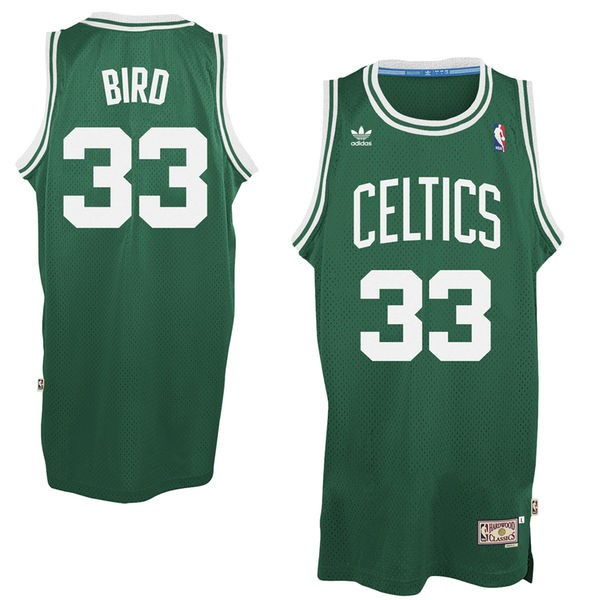 Vendita Maglia NBA Boston Celtics No.33 Larry Joe Bird Verde