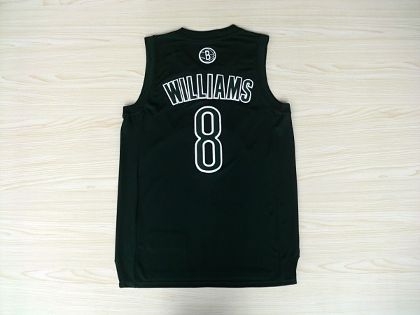 Vendita Maglia NBA Brooklyn Nets 2012 Natale NO.8 Williams Nero