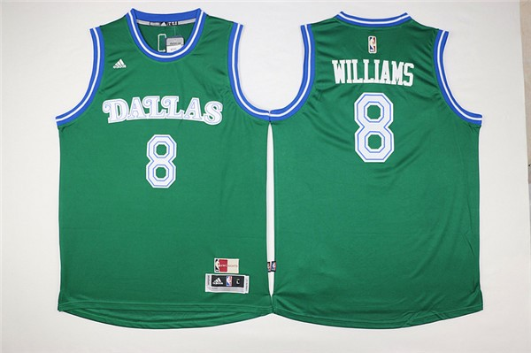 Vendita Maglia NBA Dallas Mavericks NO.8 Deron Michael Williams Verde