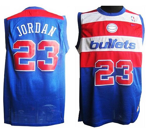 Vendita Maglia NBA Washington Wizards NO.23 Michael Jordan Retro Blu