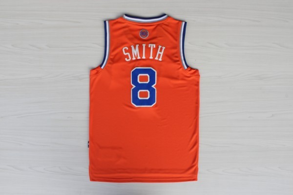 Vendita Maglia NBA New York Knicks 2012 Natale NO.8 Smith Arancia